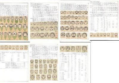 Austria collection pages with revenue reprints of Koczynski on cardboard fiscal