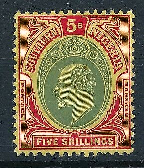 [54509] Southern Nigeria 1907-10 good MH Very Fine stamp $55