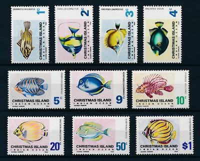 [54864] Christmas Island 1968-70 Fishes good lot MNH Very Fine stamps
