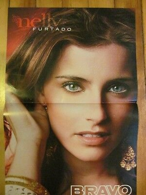 Nelly Furtado, Great Photo, Two Page Centerfold, Foreign Magazine