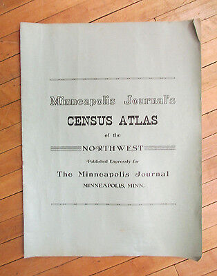 """1911 Minneapois Census Atlas Northwest USA World 19x24"""" States Pictures Map more"""