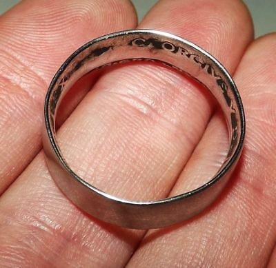 Vintage 90% STERLING SILVER Trench Art Coin WWI/WWII Ring (SIZE: 12) - RARE FIND