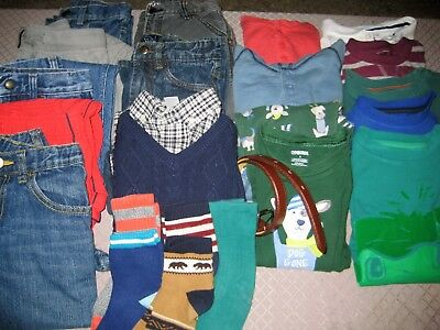 EUC lot of boy's fall and winter clothes 18 pieces, Gymboree, Gap size 6