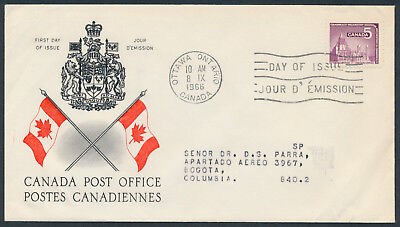 1966 #450 CPA Conference FDC, CPO Presentation Cachet with Letter to Columbia