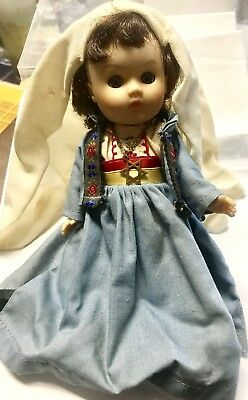 """NEAT VINTAGE JEWISH STAR OF DAVID 8"""" GINNY DOLL - BELIEVE IS A 1950's VOGUE DOLL"""