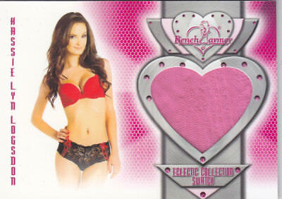 2014 Benchwarmer Eclectic Kassie Lyn Logsdon Authentic Swatch Card
