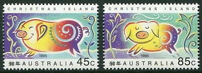 Year Of The Pig 1995 - Mnh Set Of Two (Bl332-Rr)