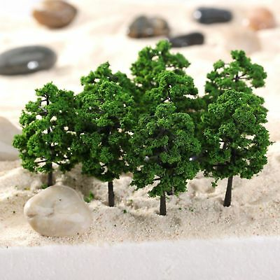 50pcs Model Trees Train Railroad Diorama Wargame Park Scenery HO scale 60mm Mini