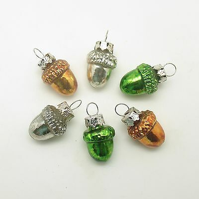 Glass Christmas Ornaments Acorns Feather Tree