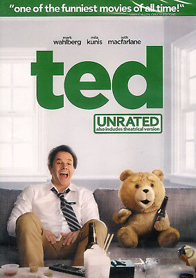 Ted ~ Mark Wahlberg Mila Kunis ~ New Factory Sealed Unrated DVD ~ FREE Shipping