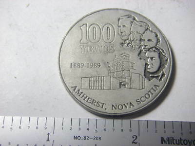 Amherst, NS 100th anniversary medal 1889-1989