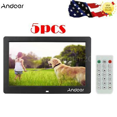 """5X 10.1"""" LCD Full HD Digital Photo Frame Picture Clock Movie Player+Control I6C9"""