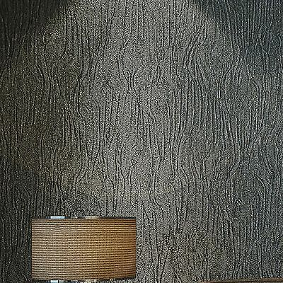 Crushed Touch Textured Modern Metallic Wallpaper Black Silver,Cream white,Gery
