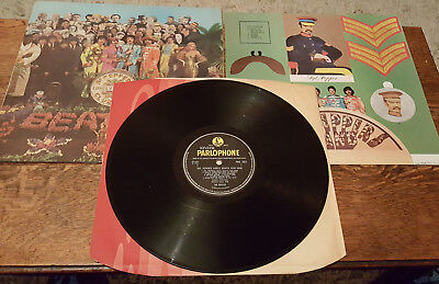 Beatles Sgt Pepper 1st UK MONO Swirl Inner/Cutout Patent Pending *VERY RARE*