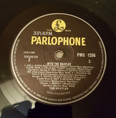 With The Beatles 1st UK Press MONO 'Jobete' Credit ZT Tax Code 'GOTTA' Errors