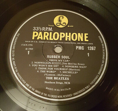 Beatles Rubber Soul 1st UK Press MONO 'Loud Cut' -1 -1 *VERY RARE*