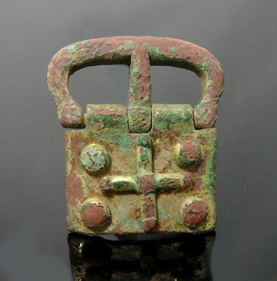 Medieval Gilded Buckle & Plate (L403)