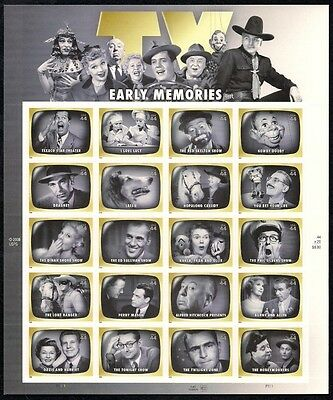 2009 - TV EARLY MEMORIES - #4414 Full Mint -MNH- Sheet of 20 Postage Stamps