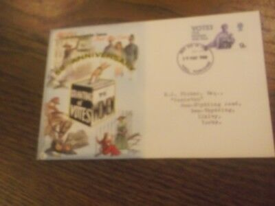 Gb - 1968 50Th Anniversary Of Granting Votes To Women First Day Cover