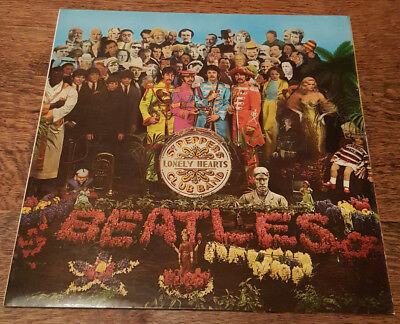 Beatles Sgt Pepper 1969 UK Press 1 EMI Box Patent Pending *VAULT COPY*