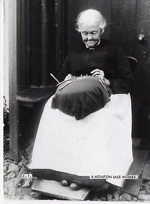 VINTAGE Postcard A Honiton Lace Worker Posted 1970