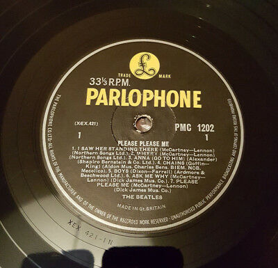 Beatles Please Please Me LP 3rd UK Press No 'Record First Published' *VERY RARE*
