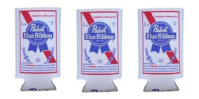 PABST BLUE RIBBON 3 PBR 16oz BEER CAN WRAP COOLERS KOOZIE COOLIE HUGIE NEW