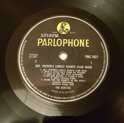 Beatles Sgt Pepper 1969 UK Final Yellow & Black Press Mono *VERY RARE*