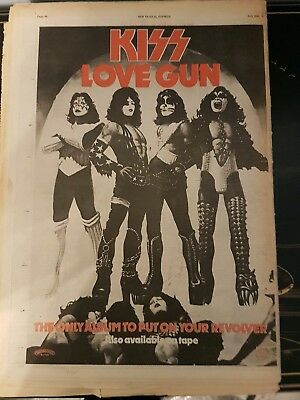 new musical express June 30 1977 kiss love gun page advert and review rainbow