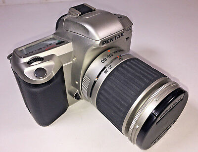 Pentax MZ-60 SLR camera for 35mm film with Pentax 28-80mm zoom & manual