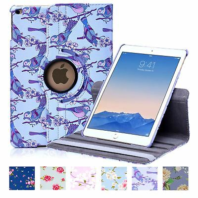 32nd Floral Series - PU Leather 360 Stand Case Cover For Apple iPad Air 2 (2014)