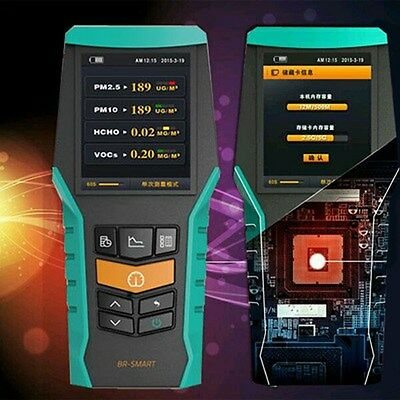 Handheld PM2.5 Particle Detector PM10 Formaldehyde VOCs Dust Air Quality Monitor