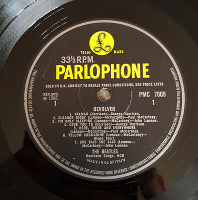Beatles Revolver Original UK Press MONO Patent Pending *VERY RARE*
