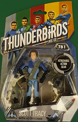 """Thunderbirds Are Go Tv Action Figure 4"""" Scott Tracy With Accessories"""
