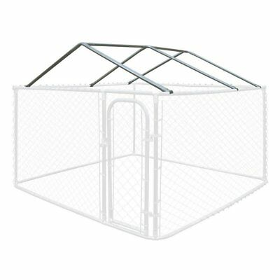ALEKO Full Steel Chain Link Dividable Galvanized Dog Kennel Roof Frame