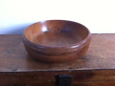 LARGE DECORATIVE VINTAGE WOODEN BOWL 10 inches