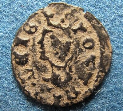 Crusaders times / Medieval Christian coin with CASTLE & KING.