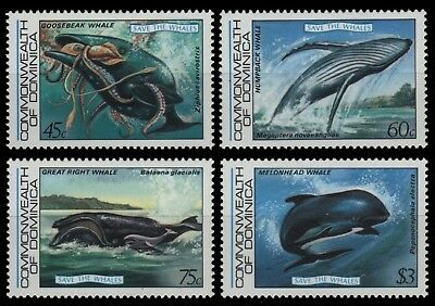 Dominica 1983 - Mi-Nr. 805-808 ** - MNH - Wale / Whales