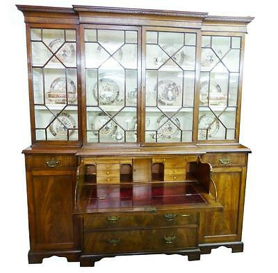 George III Secretaire Breakfront Bookcase of Small Proportions