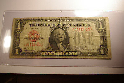 1928 $1 Red Seal United States Note