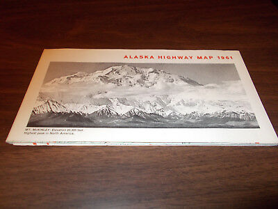 1961 Alaska Highway Vintage Road Map