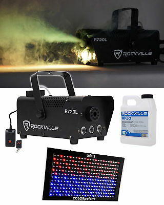 Chauvet DJ COLORpalette LED DMX Light Panel+ Rockville R720L LED Fog Machine