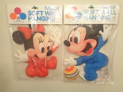 Vintage Disney Babies Mickey Mouse & Minnie Mouse Soft Wall Hanging Dolly 1984