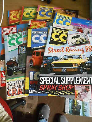 Collectable Custom Car Magazines X 9.1988.missing Jan,march & May.