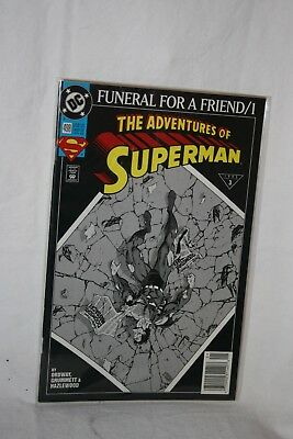 D C Comics Justice League America #498 Jan 93 Funeral for a Friend / 1 Sleeved