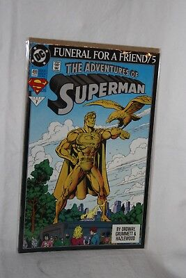 D C Comics Justice League America #499 Feb 93 Funeral for a Friend / 5 Sleeved