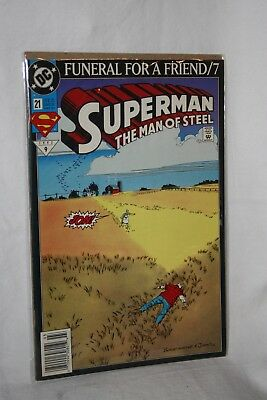 D C Comics Justice League America #21 Mar 93 Funeral for a Friend / 7 Sleeved