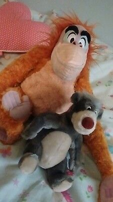 disney store jungle book large king louie with a small baloo soft toy
