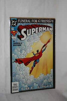 D C Comics Justice League America #77 Mar 93 Funeral for a Friend / 8 Sleeved