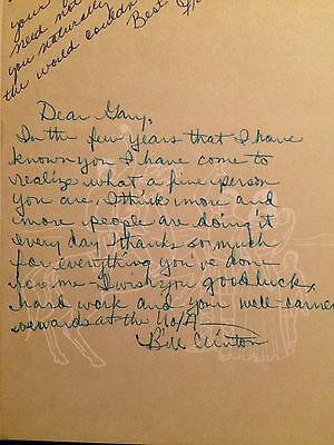 President Bill Clinton Signed 1962 High School Yearbook - Great Inscription